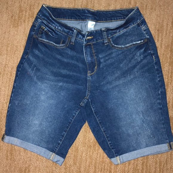 Time and Tru Pants - Time and Tru cuffed denim shorts
